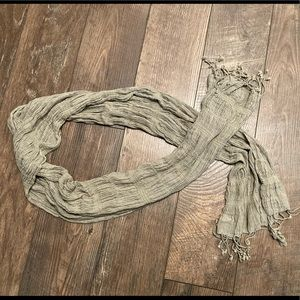 Crinkled Scarf Made in India/ Olive Color